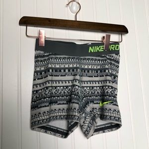 Nike Pro Printed Spandex Grey